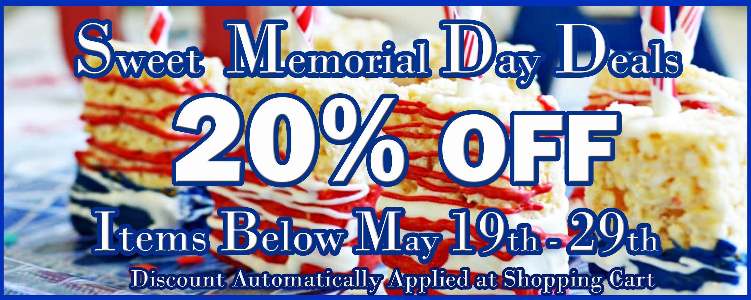 Memorial Day Sale: 20% OFF