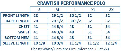 Crawfish Performance Mini Stripe Polo