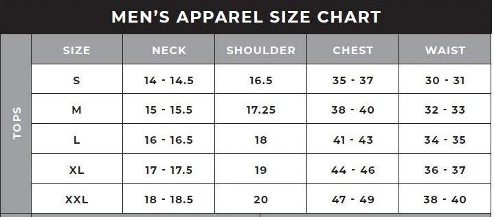 47Brand Size Chart